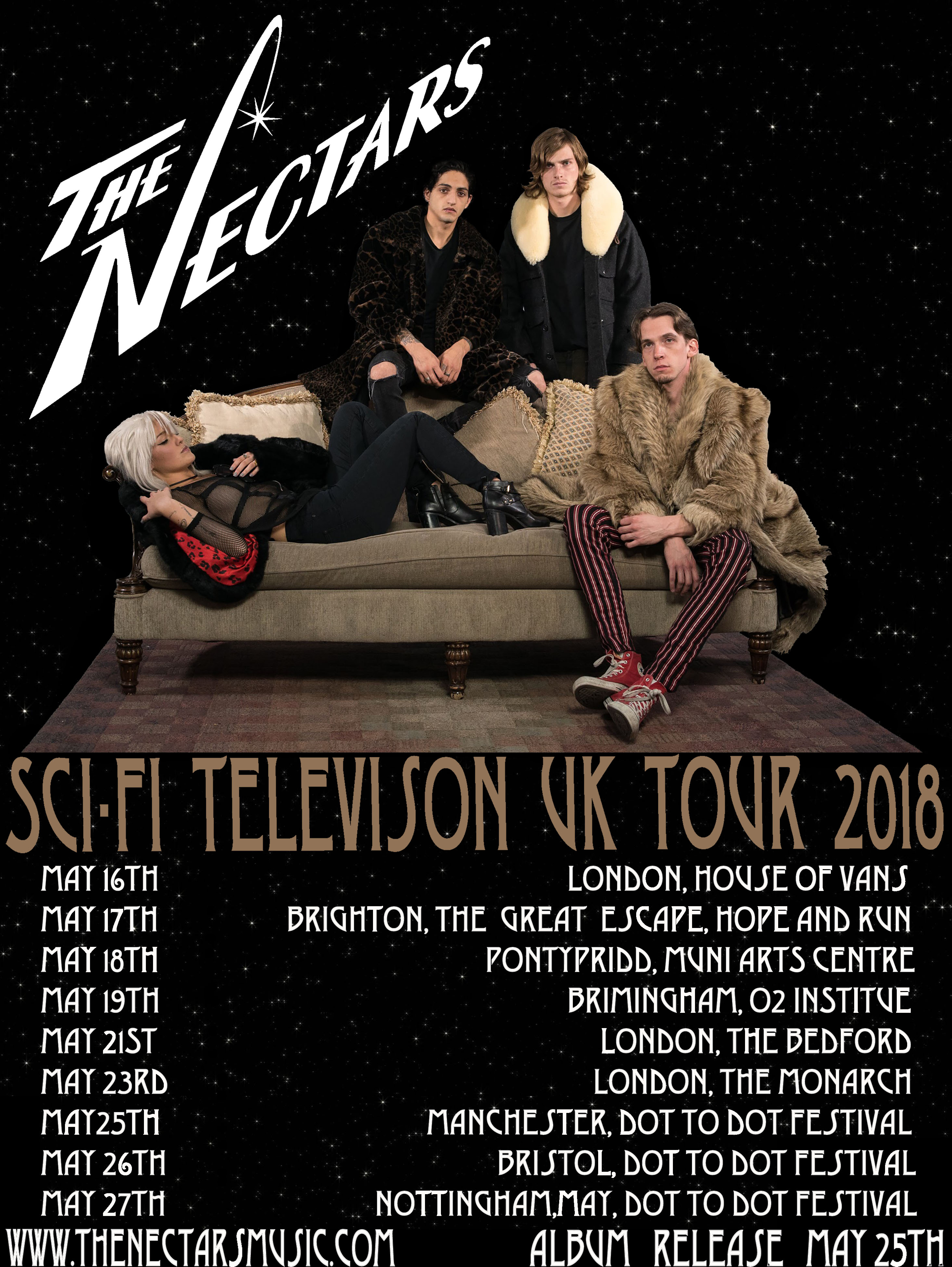 The Nectars Europe tour flyer