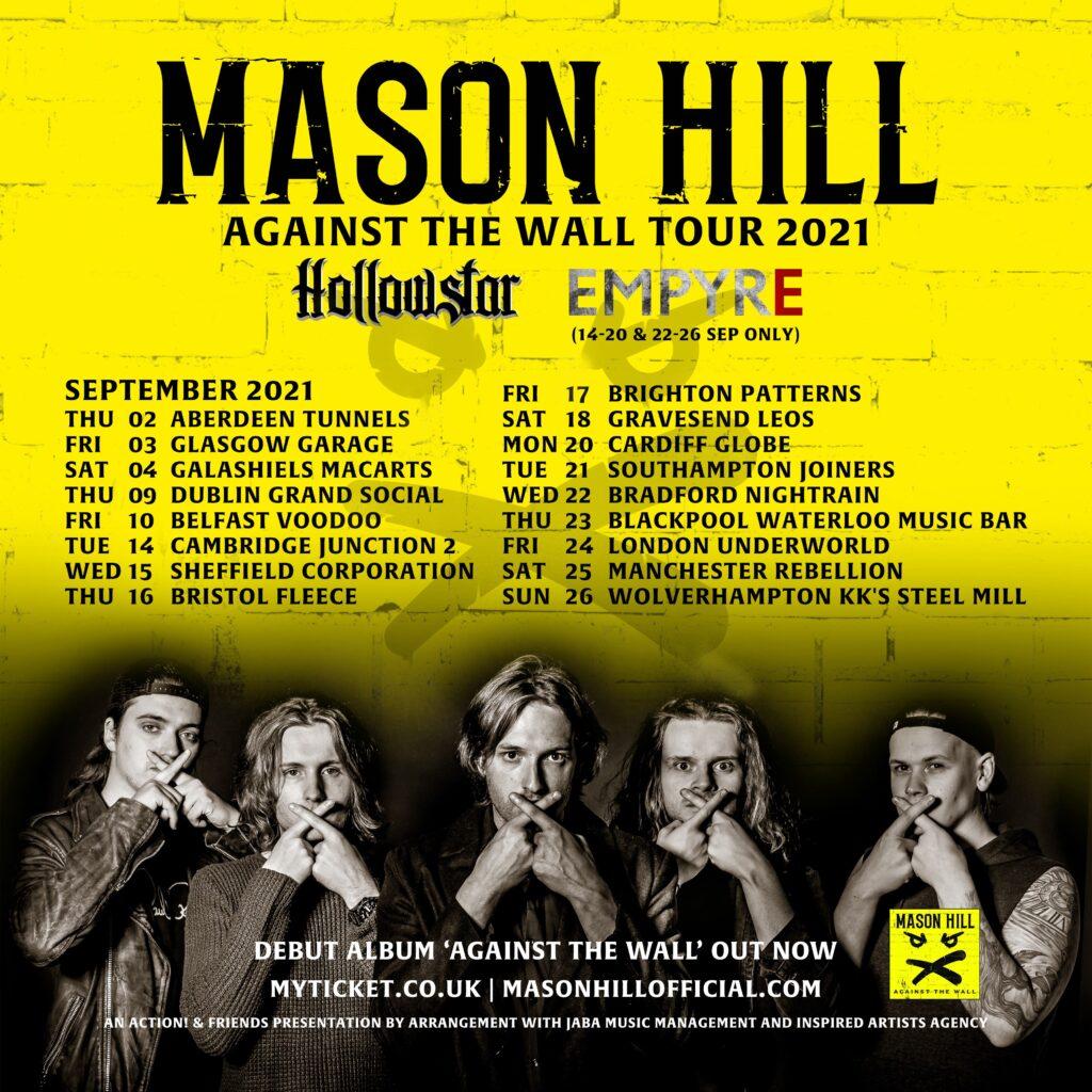 Mason Hill Tour Dates September 2021